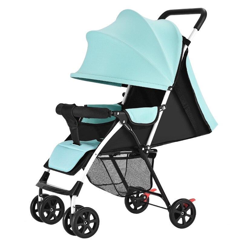 carrinho de bebe criancas ultra leve portatil pode sentar deitado inverno verao simples