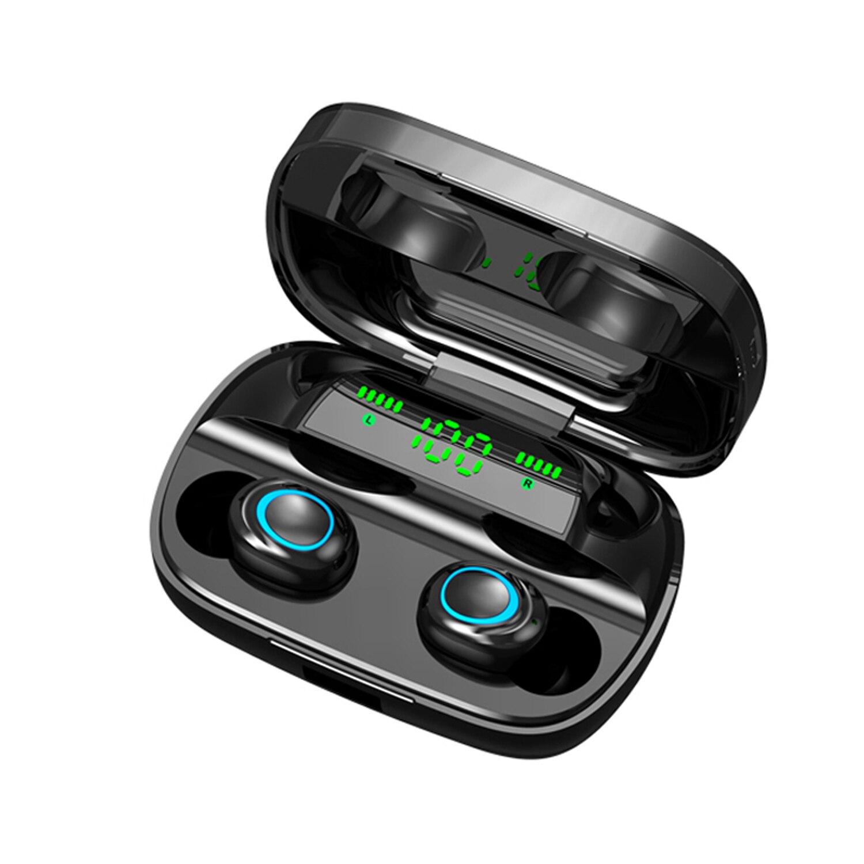 S11 fone de ouvido sem fio bt 5.0 fones de ouvido ultra-pequeno invisível fone de ouvido esportes 3d estéreo som grande capacidade fone de ouvido