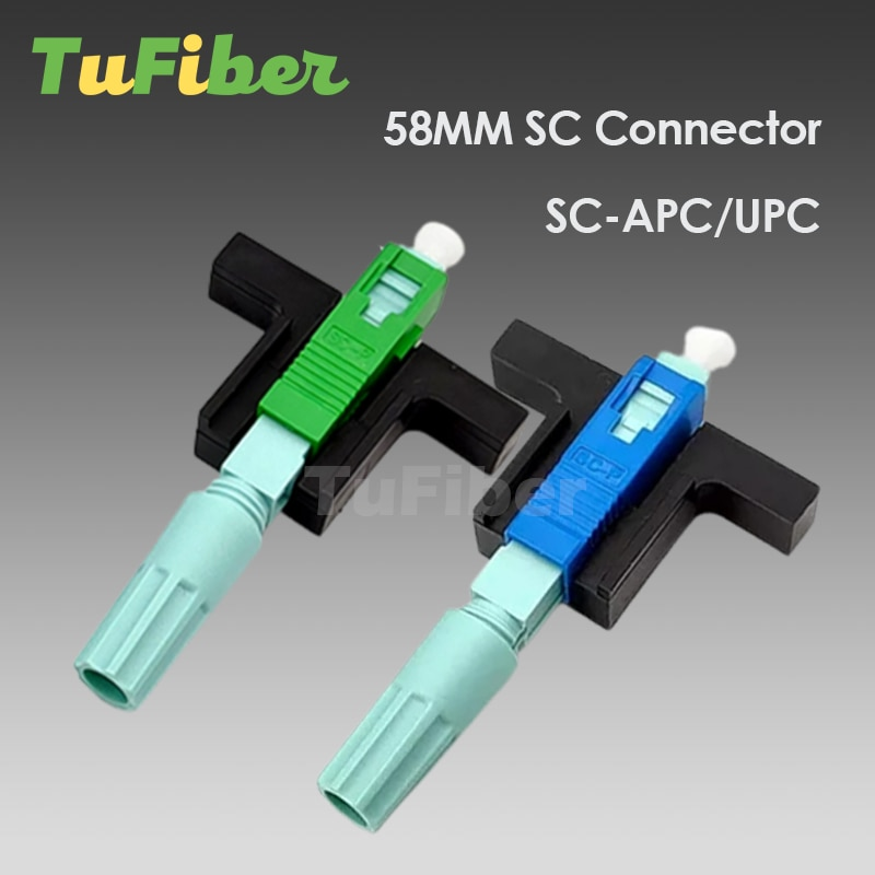High Quality 58MM SC APC UPC SM Single-Mode Optical Connector FTTH Tool Cold Connector Tool Fiber Optic Fast Connnector