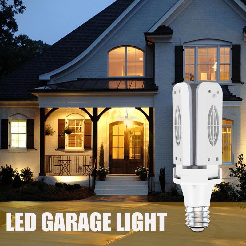 3/4-Лопастной светодиодный светильник для гаража, складной потолочный светильник для гаража, регулируемые потолочные светильники с регулир...