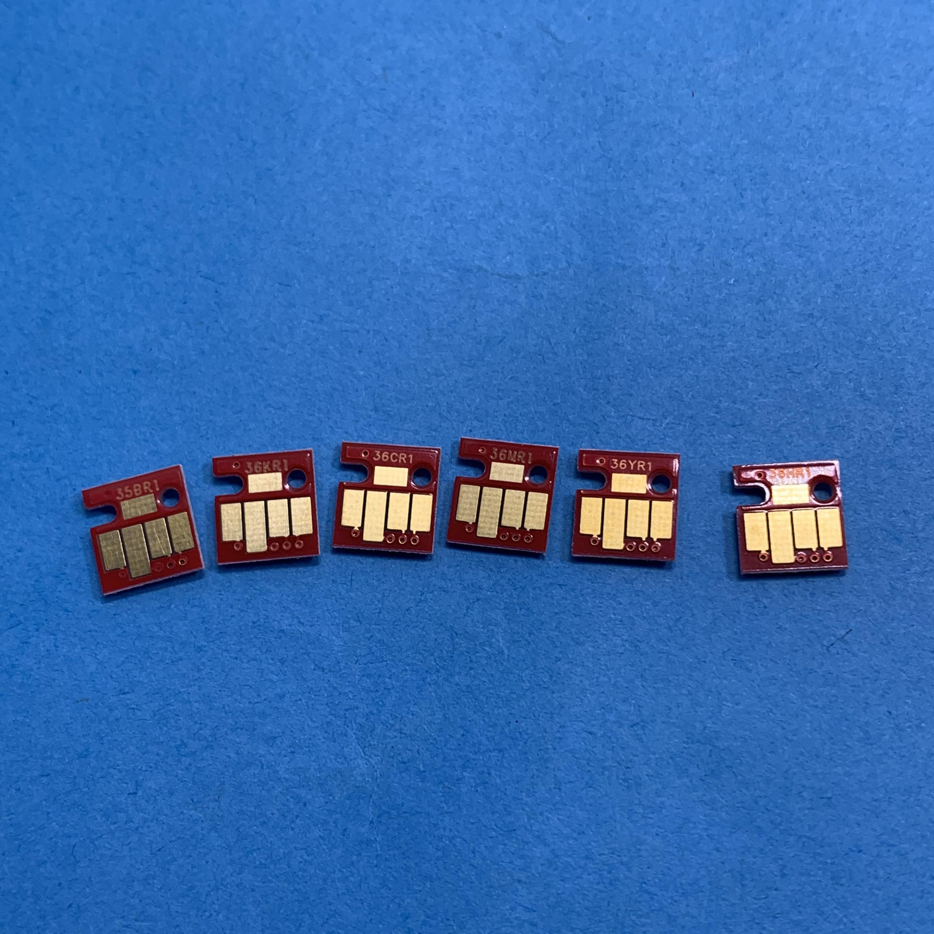 Yotat 6 pces BCI-325 BCI-326 chip permanente para canon pixus mg8130 mg6130 impressora