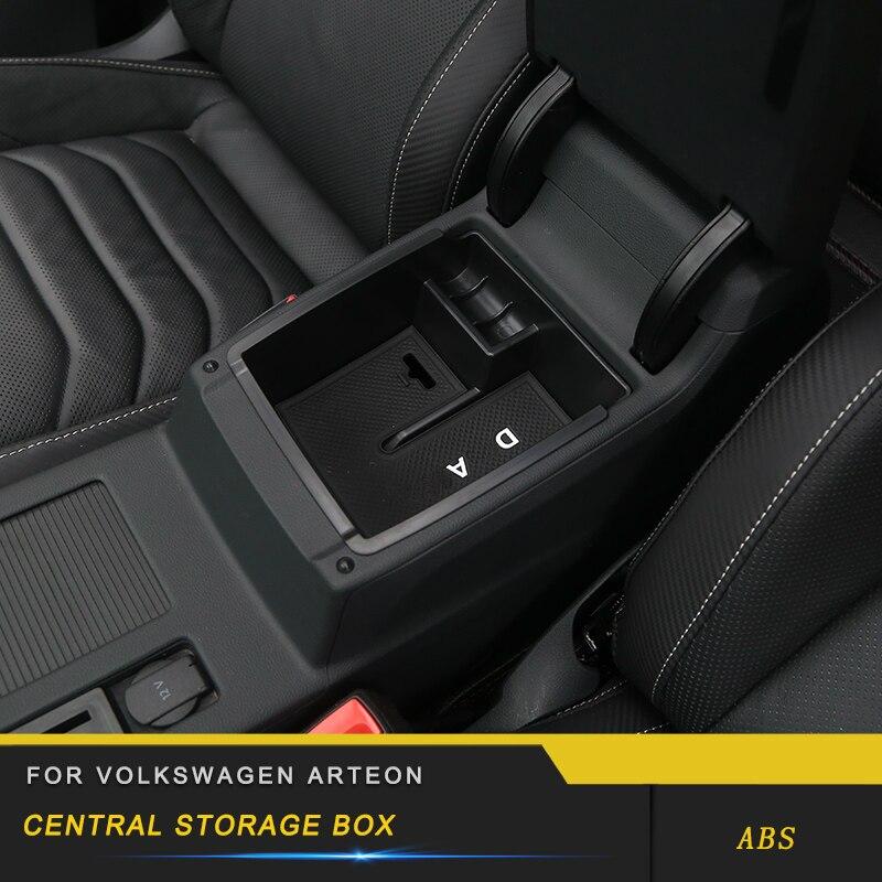 For VW Volkswagen Arteon 2019 Car Styling Central Armrest Storage Organizing Box Organizer Case Interior Accessories