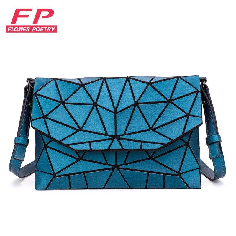2019 Fashion Matte Shoulder Bags Women Evening Party Bag Geometry Messenger Bag Clutch For Girls Casual Female Luminous Handbag
