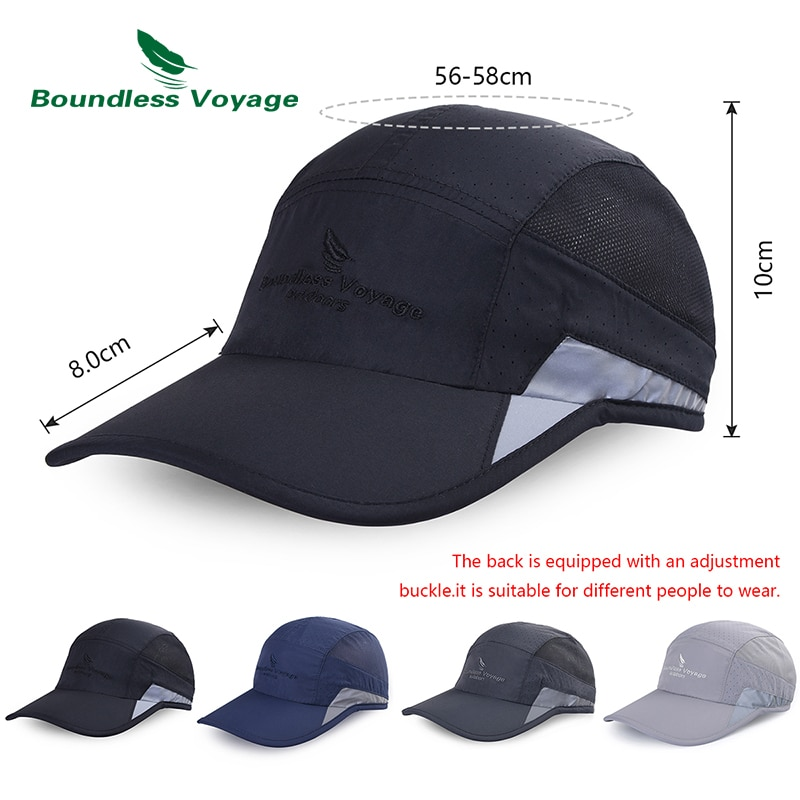 Men Women Lightweight Baseball Cap Breathable Summer Baseball Hat Outdoor Sports Quick-dry Cap UV protection Sunhat Running Cap