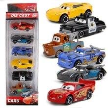 Disney Pixar 2 3 niños niño bebé rompecabezas coche Story Lightning McQueen aleación juguete deslizante Die Casting coche pequeño 6 Set