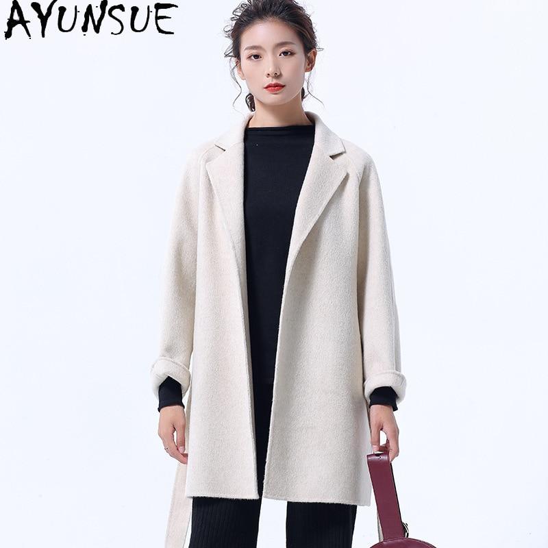 Moda Otoño 90% abrigo de lana Para Mujer abrigo de estilo coreano...