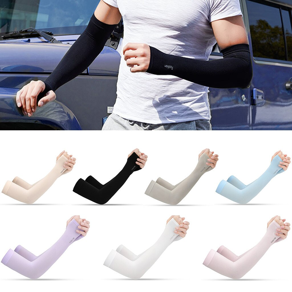 2 uds. Fundas de brazo deportivas UV Sun Protect antideslizante brazalete de baloncesto cubierta de tatuaje perfecta para actividades al aire libre
