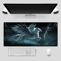 mairuige large mouse pad animal pegasus pattern black seaming computer notebook office game accessories animated mouse pad desk
