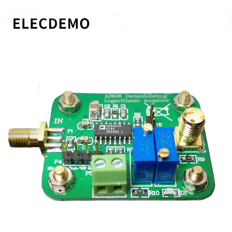 AD606 وحدة لوغاريتمي الكاشف 80dB الإستخلاص لوغاريتمي مكبر للصوت منخفضة الطاقة قابل للتعديل السعة الناتج