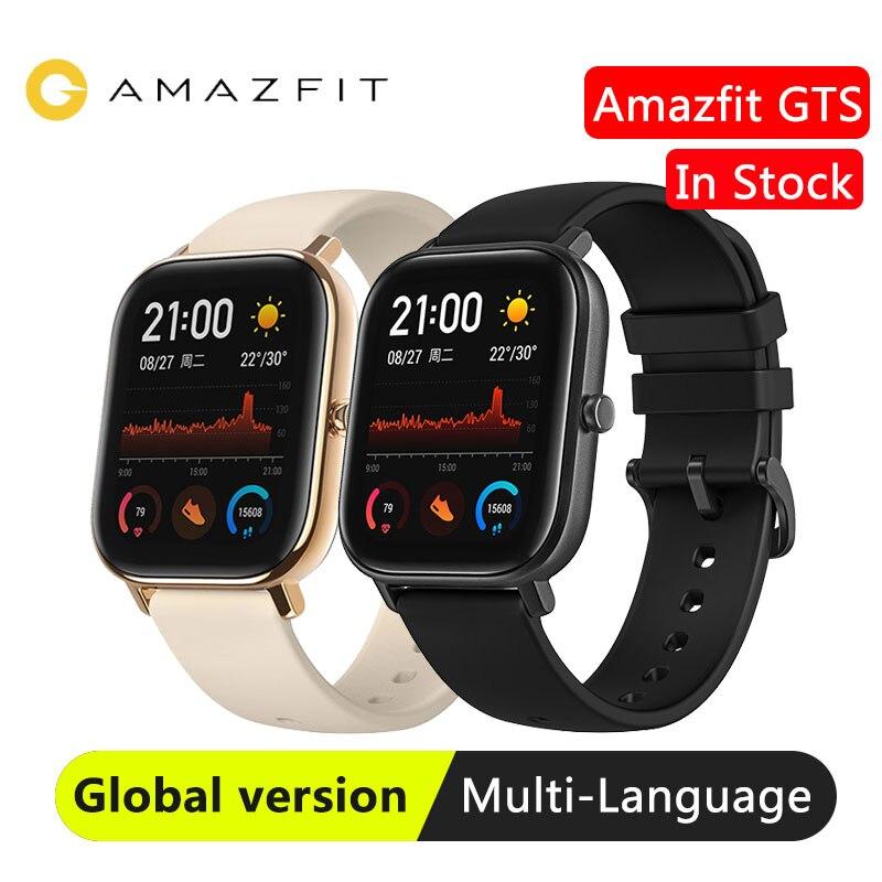 Em estoque versão global huami amazfit gts relógio inteligente gps smartwatch 5atm à prova dwaterproof água saúde freqüência cardíaca amoled 12 esportes Relógios inteligentes    -