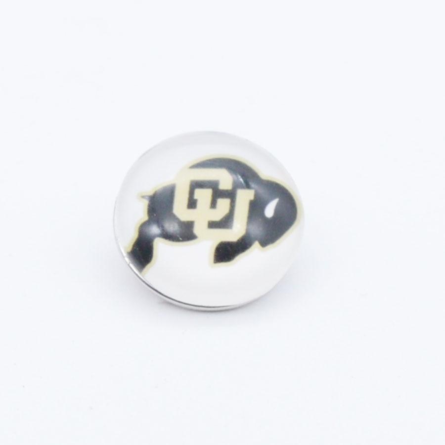 University Colorado Buffaloes NCAA Sport Glass Snap Buttons 18mm 12mm Fit Snaps Snaps Bracelet&Bangle Men women DIY Snap Jewelry