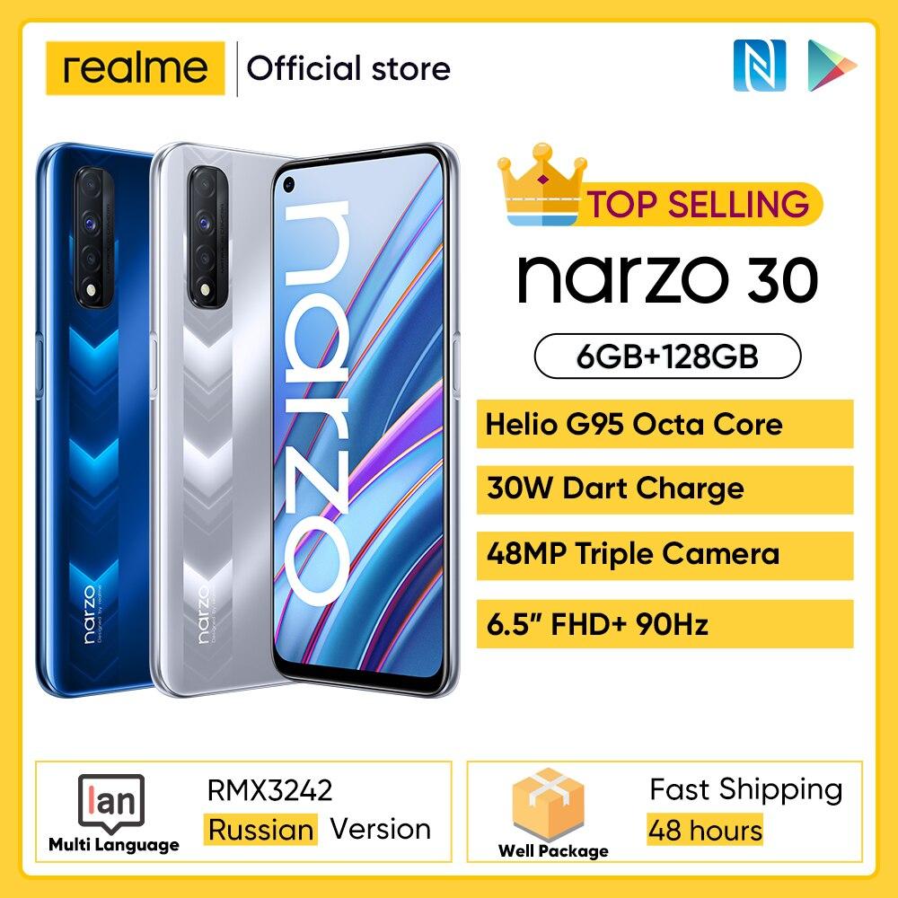 realme narzo 30 Smartphone Russian Version Helio G95 90Hz 6.5