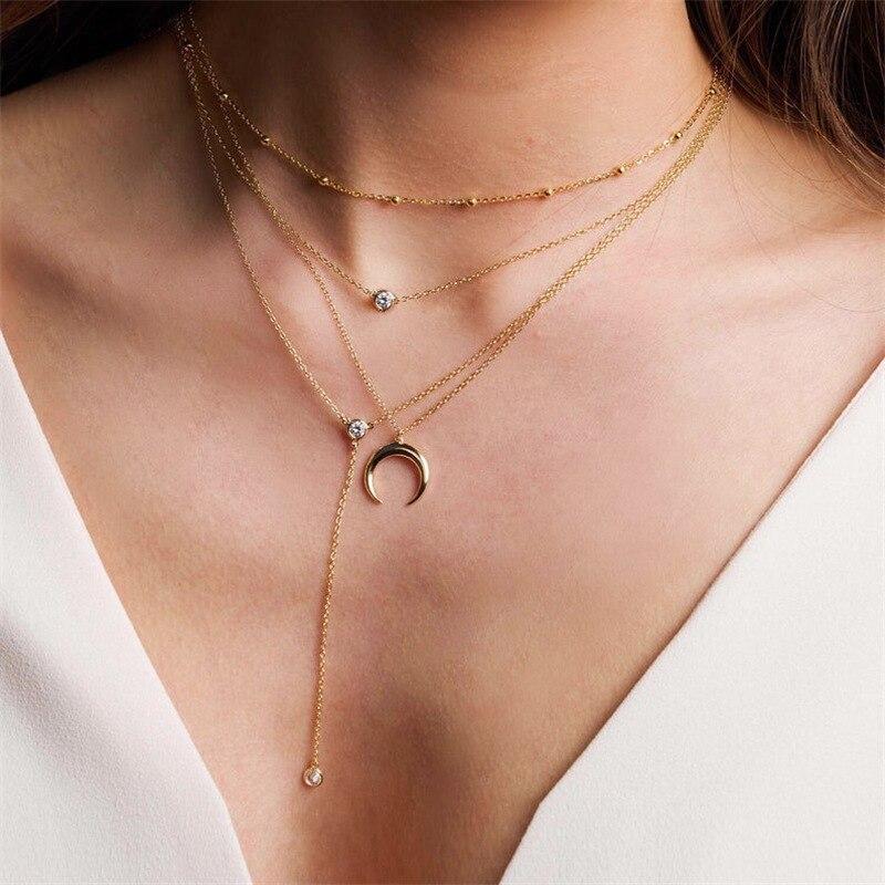 Collar de cuentas de cadena de plata de ley S925 gargantilla corta y delicada, joyería para mujeres y niñas, regalos de navidad