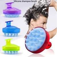 silicone shampoo scalp home portable hair shower brush bath hair shower massage brush comb spa slimming brush hair tool