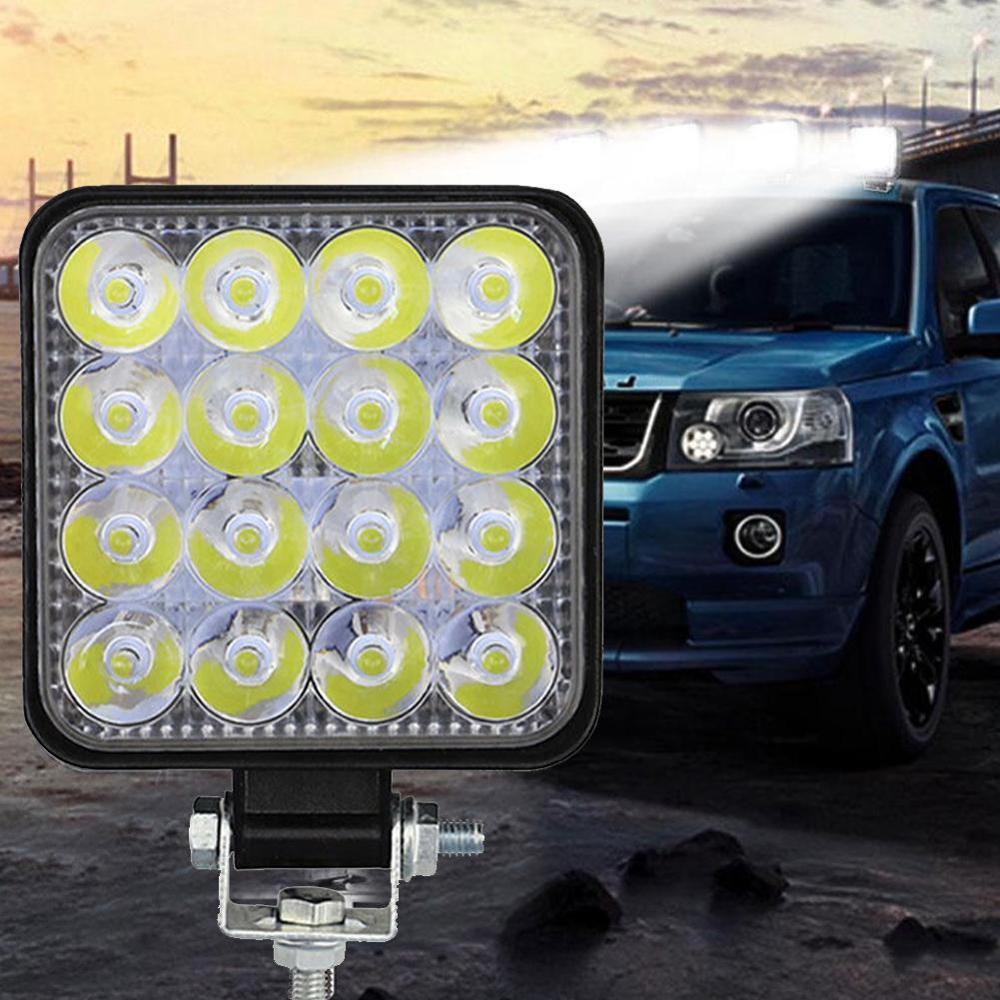 Lámpara de trabajo de alta calidad, luz de trabajo fuera de carretera de 4 pulgadas y 48W, luz led interior de 12v, foco de faro led 4x4 para camión