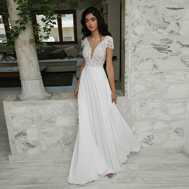 Get Luxury Wedding Dress Embroidered Lace Boat Neck Ball Gowns Sleevelesswith Appliques Sashes Vestido De Noiva Plus Size Button