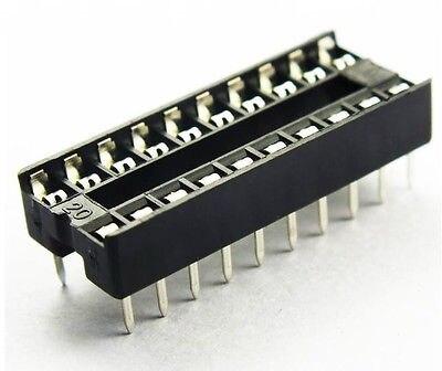 100 PCS Pinos DIL 20pin DIP IC Socket PCB Mount Contor NOVO