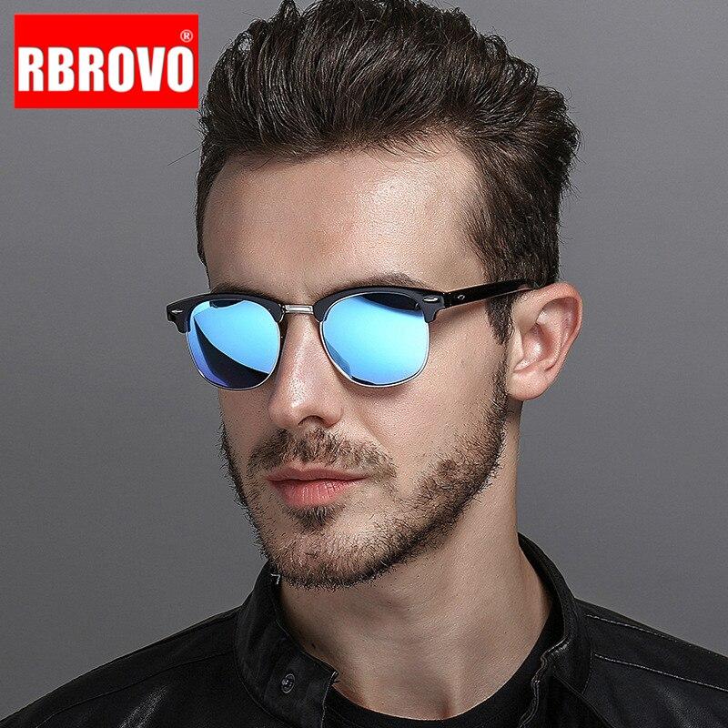 RBROVO 2021 Semi-Rimless Brand Designer Sunglasses Women/Men Polarized UV400 Classic Oculos De Sol G