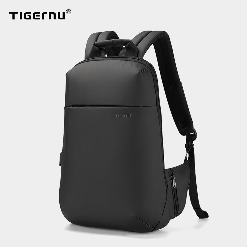Tigernu New Fashion Men  Male  Slim 15.6 inch Laptop Backpacks Anti theft USB Charging Ultra light Waterproof Computer bag
