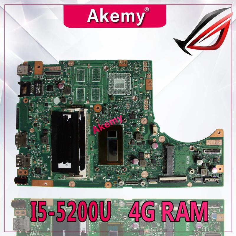 Akemy tp500la/tp500ln placa-mãe do portátil para For Asus tp500la tp500ln tp500l tp500 teste original mainboard 4g ram I5-5200U