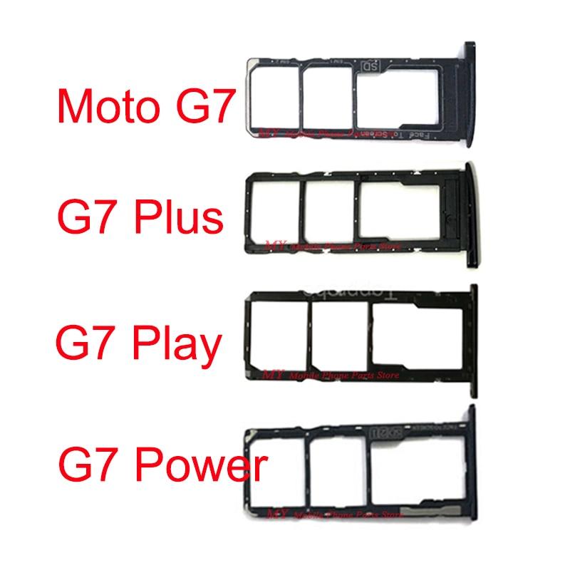 30 PCS Dual Sim Card Tray Holder For Motorola Moto G7 Plus Play Power G7+ Sim Tray Card SD Card Tray Reader Holder Socket Slot