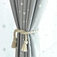 grey black star printed curtains for children kids boys bedroom nursery french window cortinas p123c