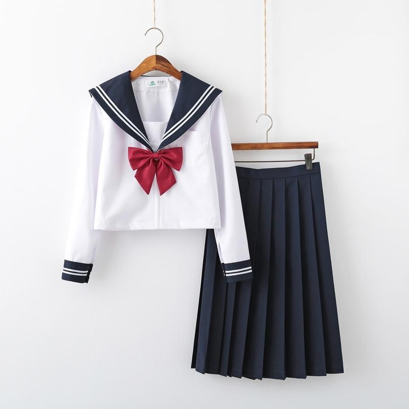 ملابس تنكرية لفتاة المدرسة JK ، زي أداء جوقة نسائي ، زي بحار ياباني بأكمام قصيرة ، زي أنيمي نقي وجميل