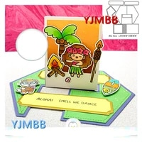 yjmbb 2021 new puzzle greeting card cards 1 metal cutting mould scrapbook album paper 3d diy card craft embossing die cutting