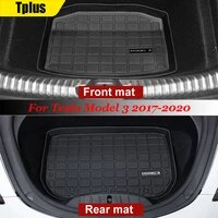 tplus model 3 car front luggage mat for tesla model 3 2017 2020 tpe rubber odorless cargo pallet waterproof rear luggage pad