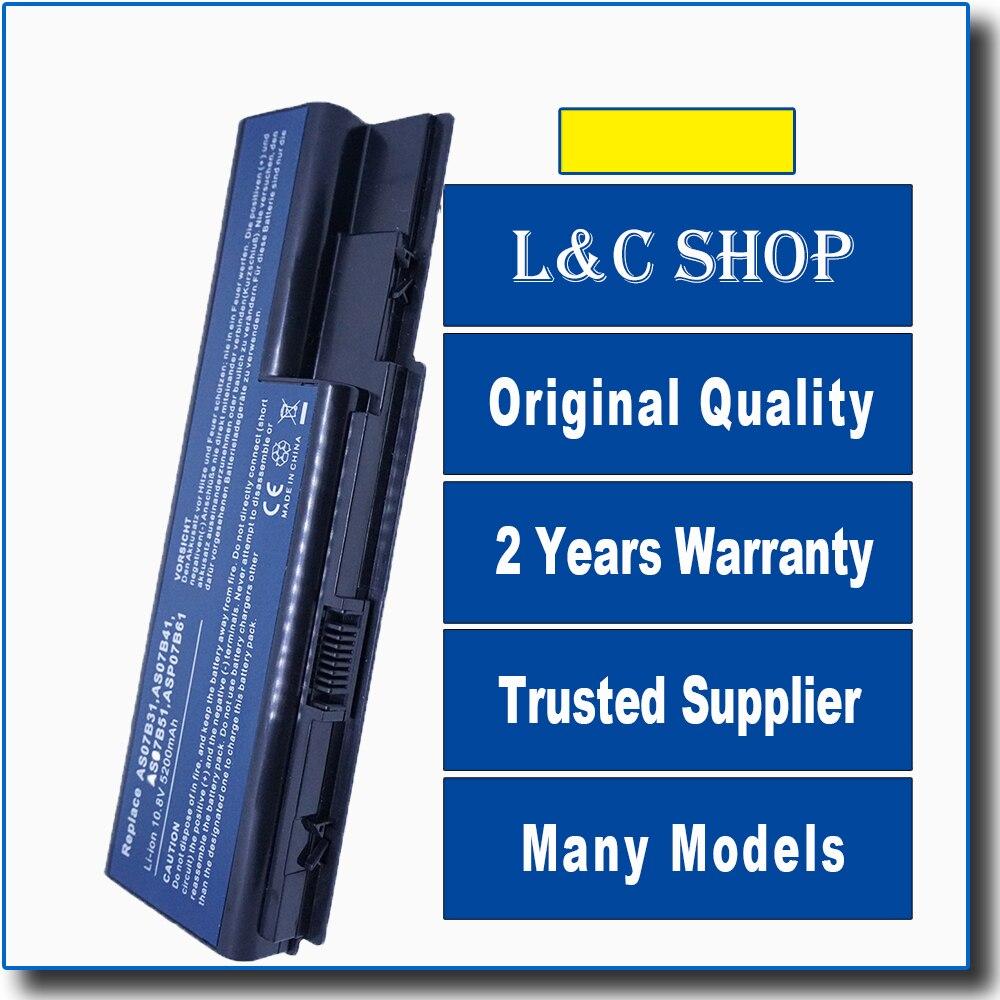 Batería de repuesto para ordenador portátil Acer Aspire Series 5520-T38P8F 5520-TX58P12 5520-TX58P16...