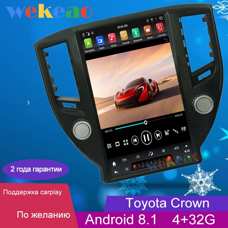 "Wekeao 13,6 ""Pantalla Vertical estilo Tesla 1 Din Android Auto Radio Automotivo para Toyota corona coche Dvd reproductor Multimedia GPS 4G"