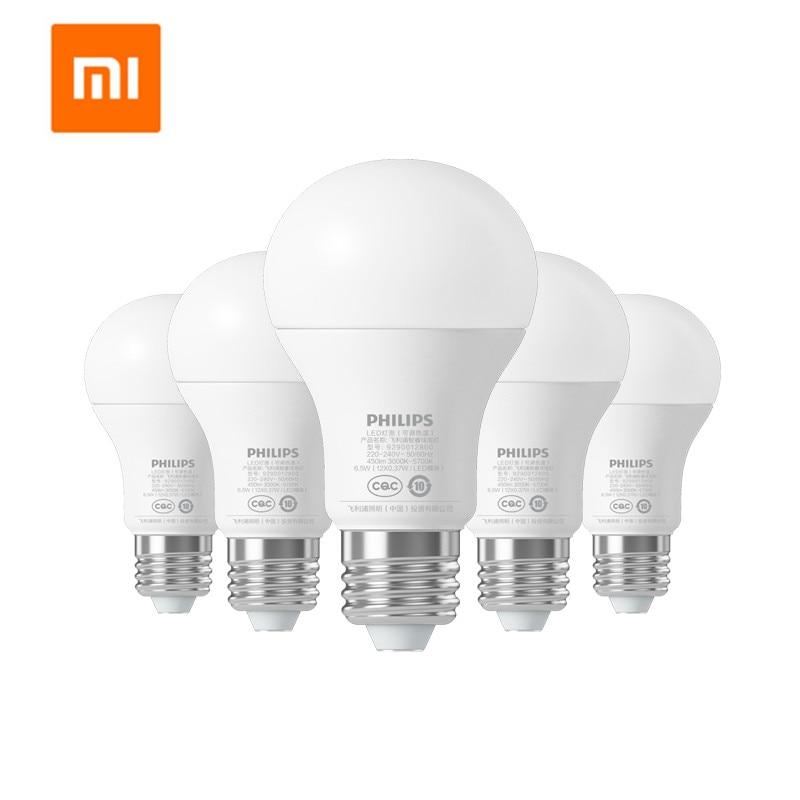 Xiaomi mijia 6,5 W E27 bombilla 220 - 240V 450LM 3000 - 5700K atenuación continua lámpara de bola LED inteligente Mi luz APP WiFi remoto
