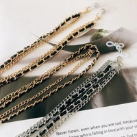 2020 vintage double layers fashion women face mask chain mask lanyard holder sunglasses chain glasses accessories