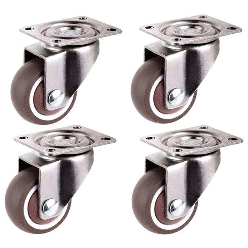 Mini rodízios, 1 polegada/25mm de diâmetro, roda ultra-tranquila para gavetas de estante