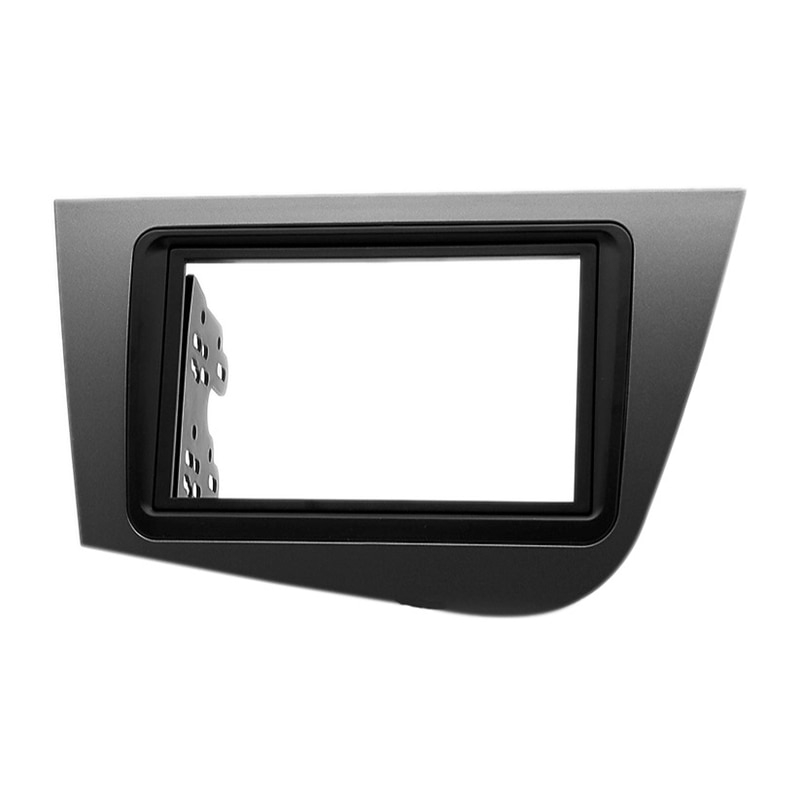 for SEAT Leon 2005-2012 2Din Audio Panel Modification Panel DVD Navigation Panel Frame Car Fascias Stereo Radio Panel