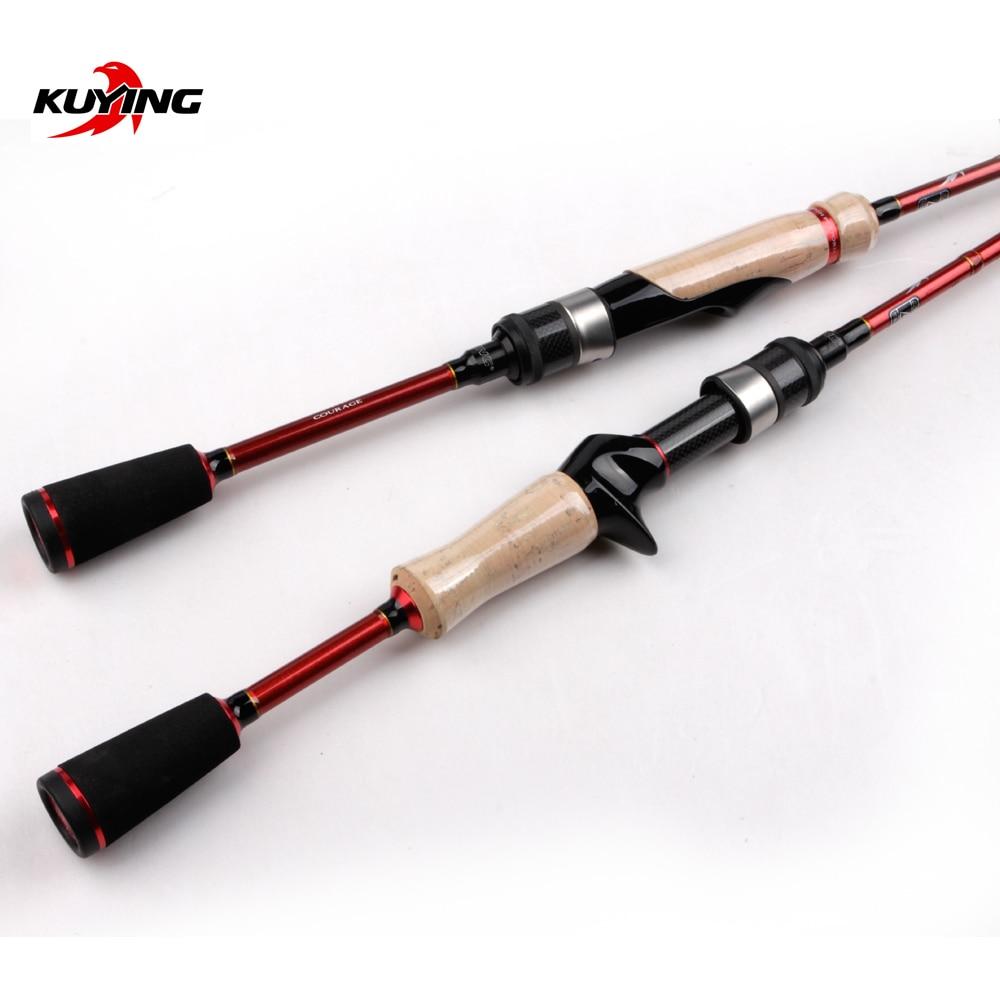 KUYING FREESTYLE UL Ultra light 1.8m 6' Spinning Casting Fishing Lure Rod Mini Travel Packet Pocket Stick Pole Cane 1-7g Lure enlarge