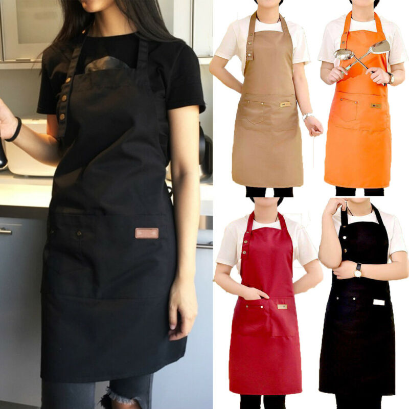 2020 Newest Hot Solid Cooking Kitchen Apron For Woman Men Chef Waiter Cafe Shop BBQ Hairdresser Aprons Bibs Kitchen Accessory enlarge