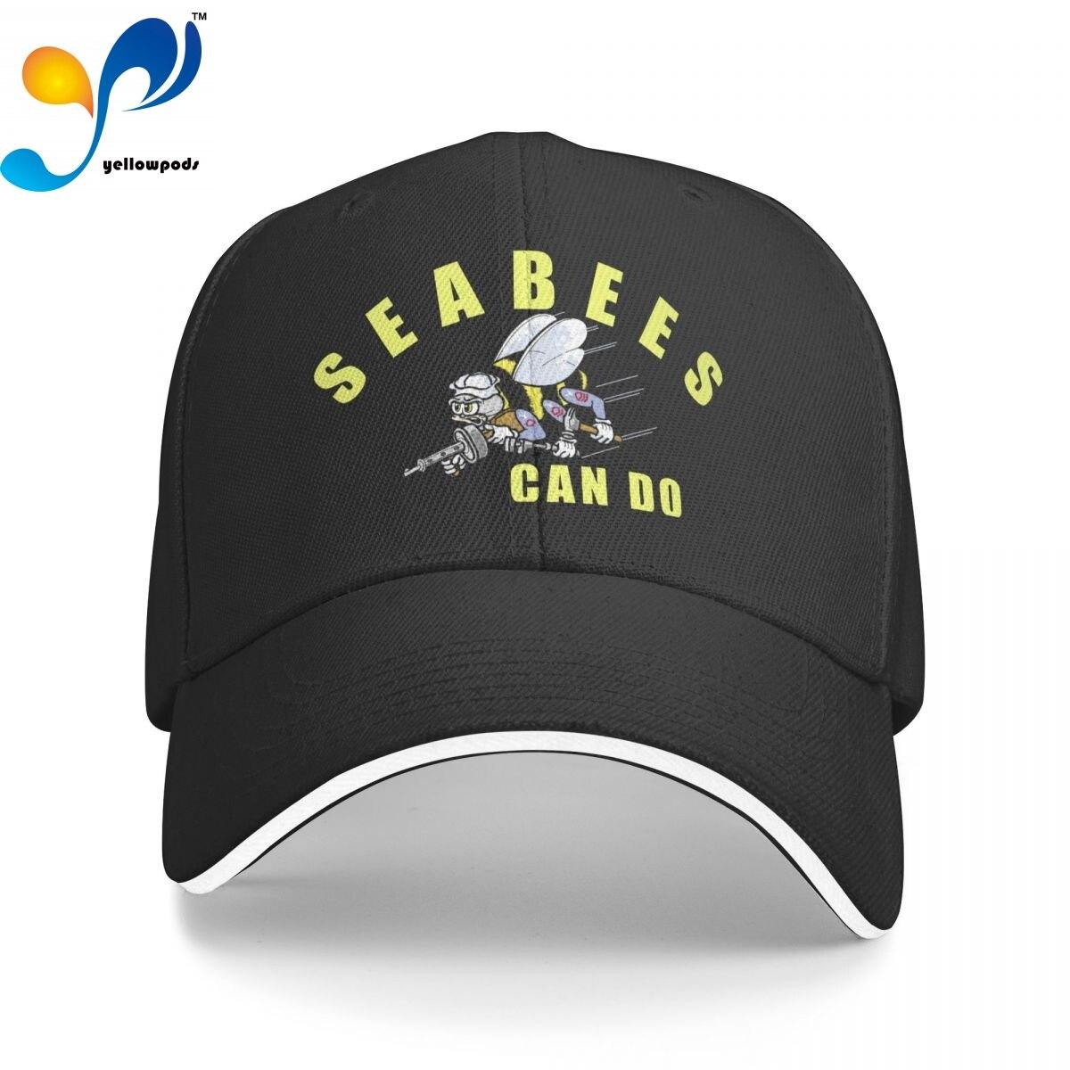 Seabees может сделать кепку-тракер, Снэпбэк Кепка для мужчин, бейсбольный клапан, мужские кепки, кепки с логотипом