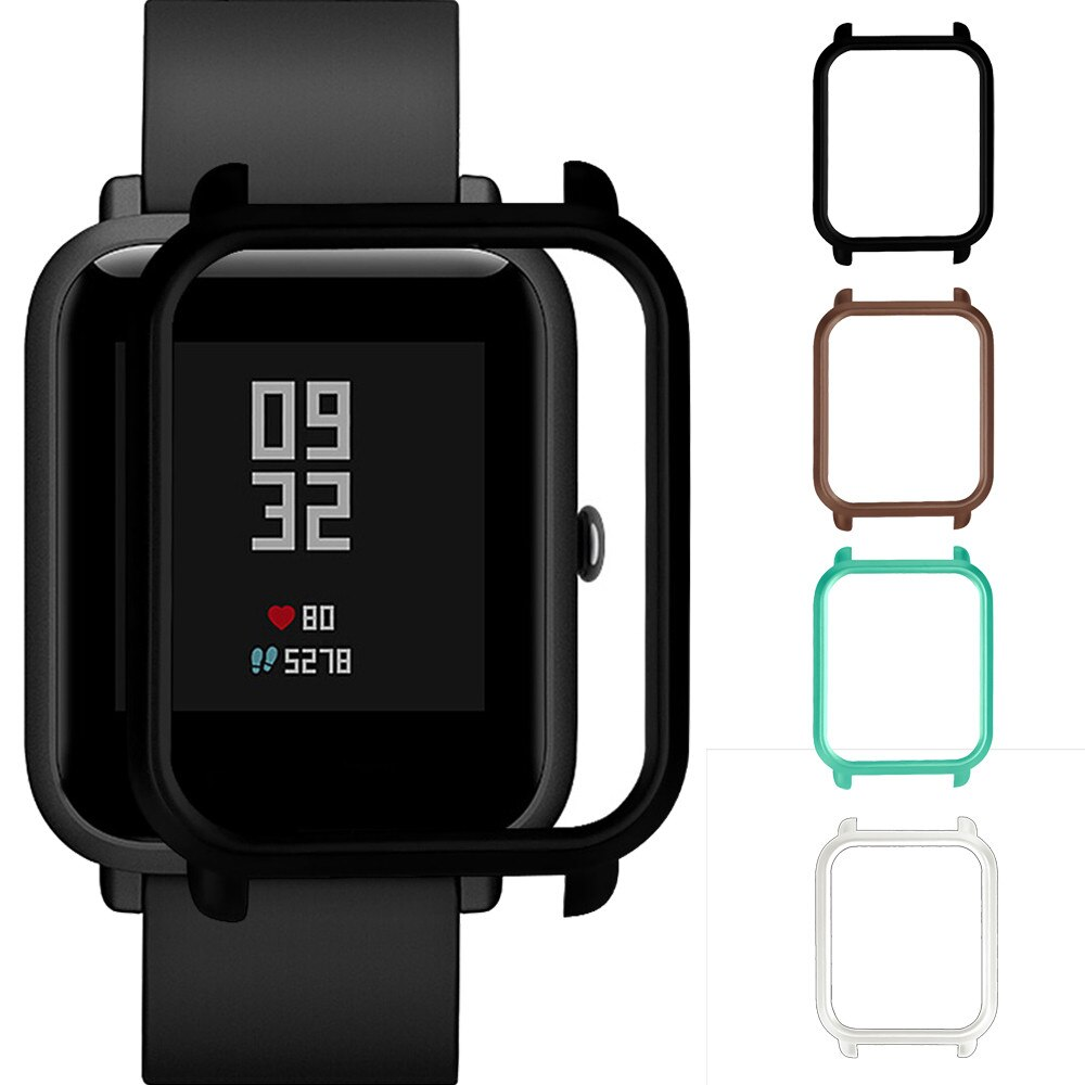 CARPRIE, accesorios para reloj inteligente, funda colorida de PC, funda protectora para reloj Xiaomi Huami Amazfit Bip Youth, funda protectora para reloj