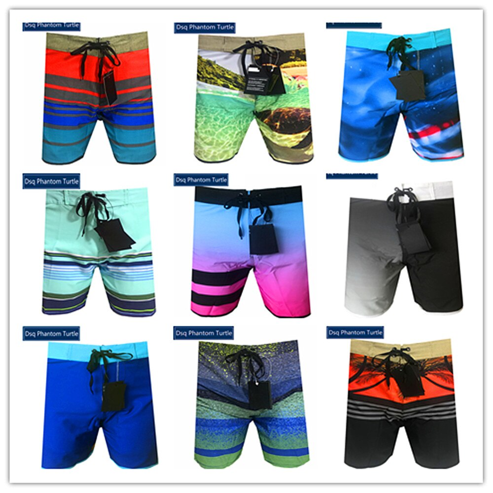 2020 bermudas praia marca elastano dos homens hawaiian estiramento board shorts elástico dsq fantasma tartaruga preto azul branco vermelho rosa laranja