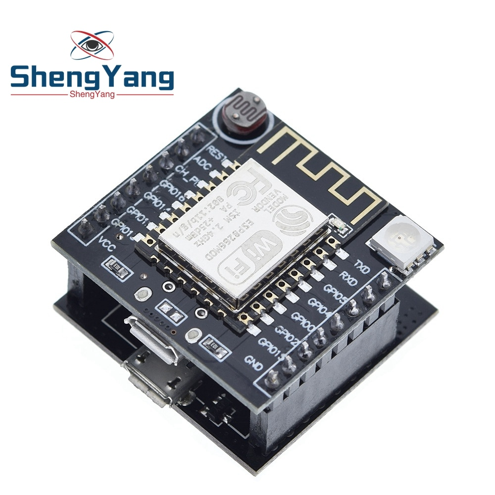 TZT ESP8266 ESP-12F módulo WIFI en serie, Mini Placa de desarrollo para Arduino Nodemcu CH340, Micro módulo USB para Arduino Witty Cloud