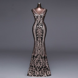 Be hygge 2020 moda nova v profundo longo vestido de banquete sexy halter luxo preto ouro lantejoulas formal vestido de banquete baile de formatura vestido de festa