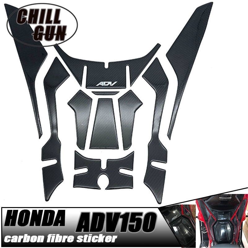 Motorcycle 3D Carbon Fiber Sticker Decal Logo Tank Pad Protection For HONDA ADV150 2019-2020 ADV 150 19'20' adv150 2019 2020