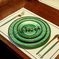 new european phnom penh western food steak plate creative exquisite breakfast plate fruit salad plate
