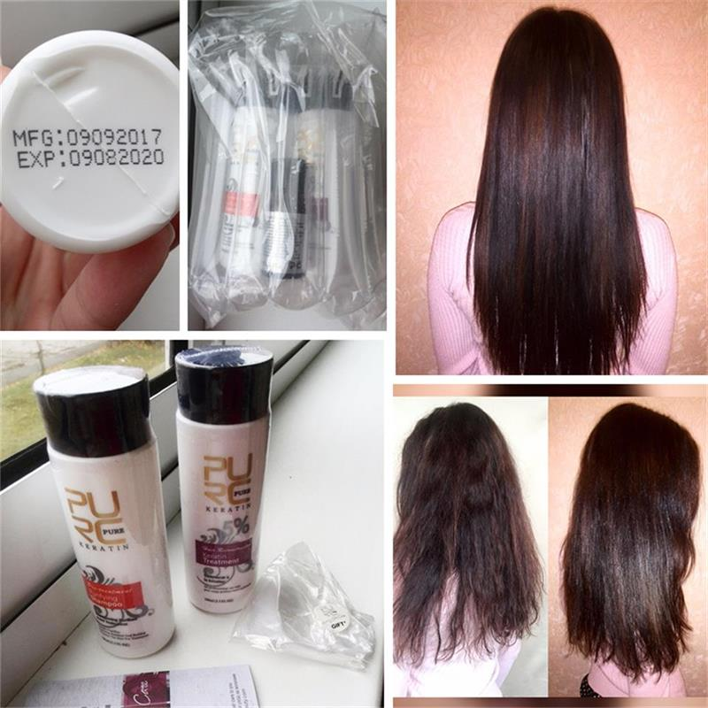 PURC Brazilian 12% Formalin Keratin Hair For Hair Straightening Treatments Repair Damaged Make Hair Smooth Shiny 100ml