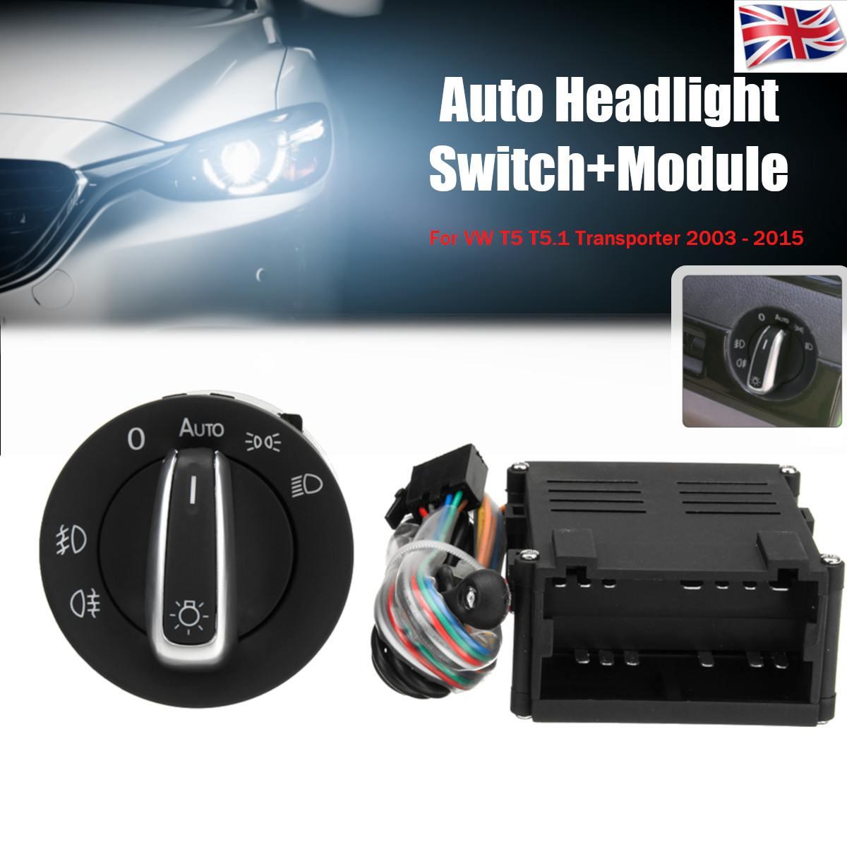 Módulo de Control de interruptores para Sensor de faro delantero de coche para VW T5 T5.1 Transporter 2003-2015
