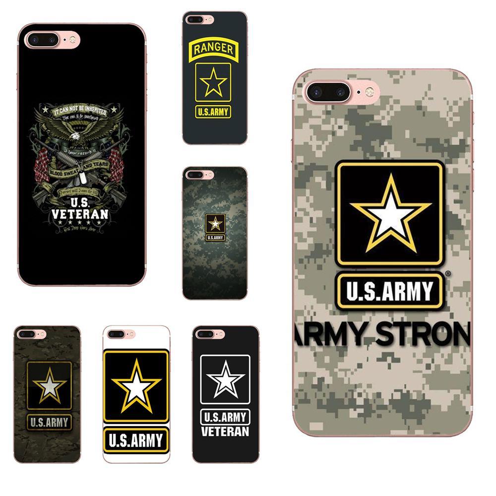 Soft Live Love teléfono camuflaje Ejército de los EE. UU. Cuerpo de señal para Apple iPhone 4 4S 5 5C 5S SE 6 6 6S 7 8 Plus X XS X Max XR