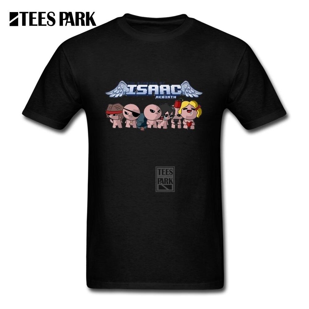 Camiseta de Humor para hombre la encuadernación de lsaac rebirth Camiseta de cuello redondo camisetas 100% algodón de manga corta para niño
