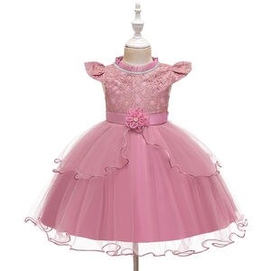 Girls' Clothing 2021 New Dress Princess Little Girl Fashionable Stylish Tulle Tutu Skirt Princess Dress Girl