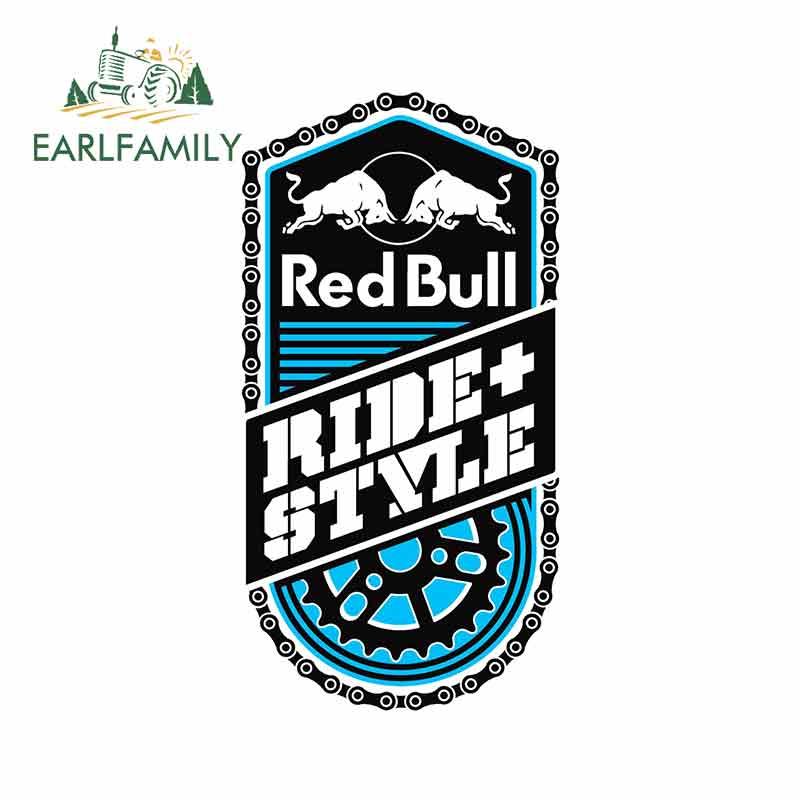 EARLFAMILY 13cm x 6.8cm Car Stickers Red of Bull Ride+ Style Graffiti Decal Fashion Occlusion Scratch Sticker for GTR EVO SX
